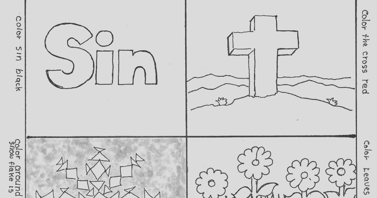 wordless book gospel coloring page free