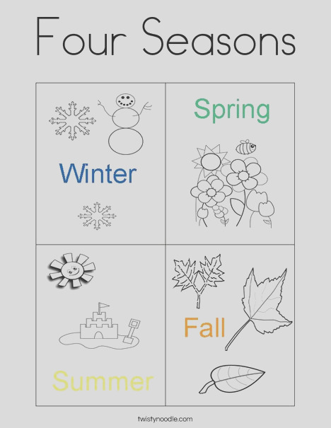 four seasons 4 coloring page