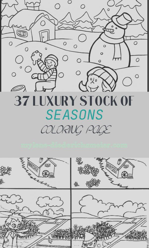 Seasons Coloring Page Luxury Seasons Coloring Pages