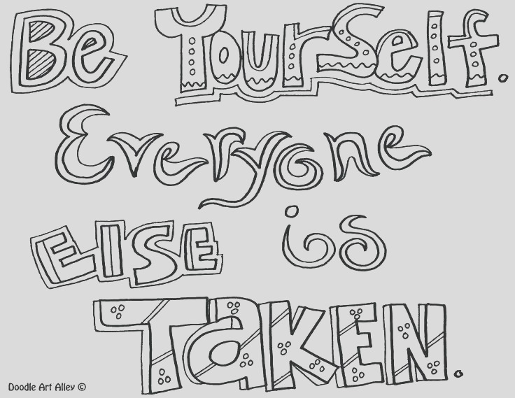 self coloring pages