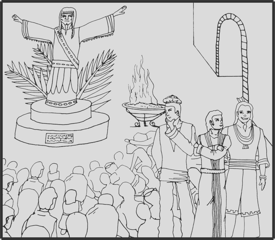 shadrach meshach and abednego coloring pages 2
