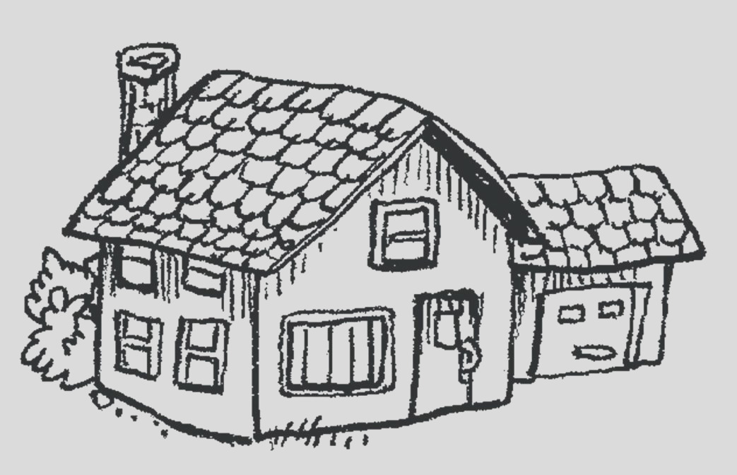 simple line drawing of house