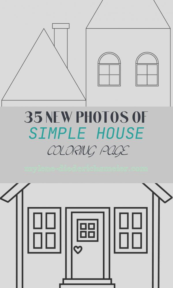 Simple House Coloring Page Beautiful Simple House Coloring Page