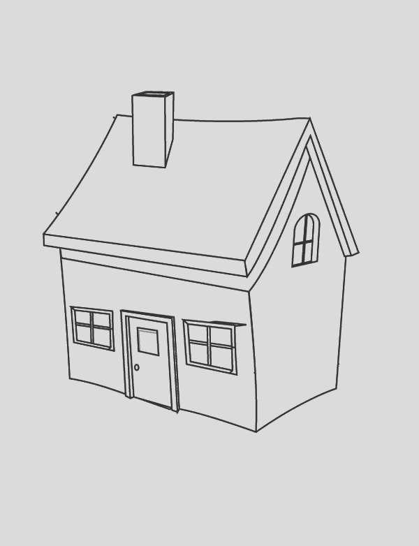 simple house sketch templates