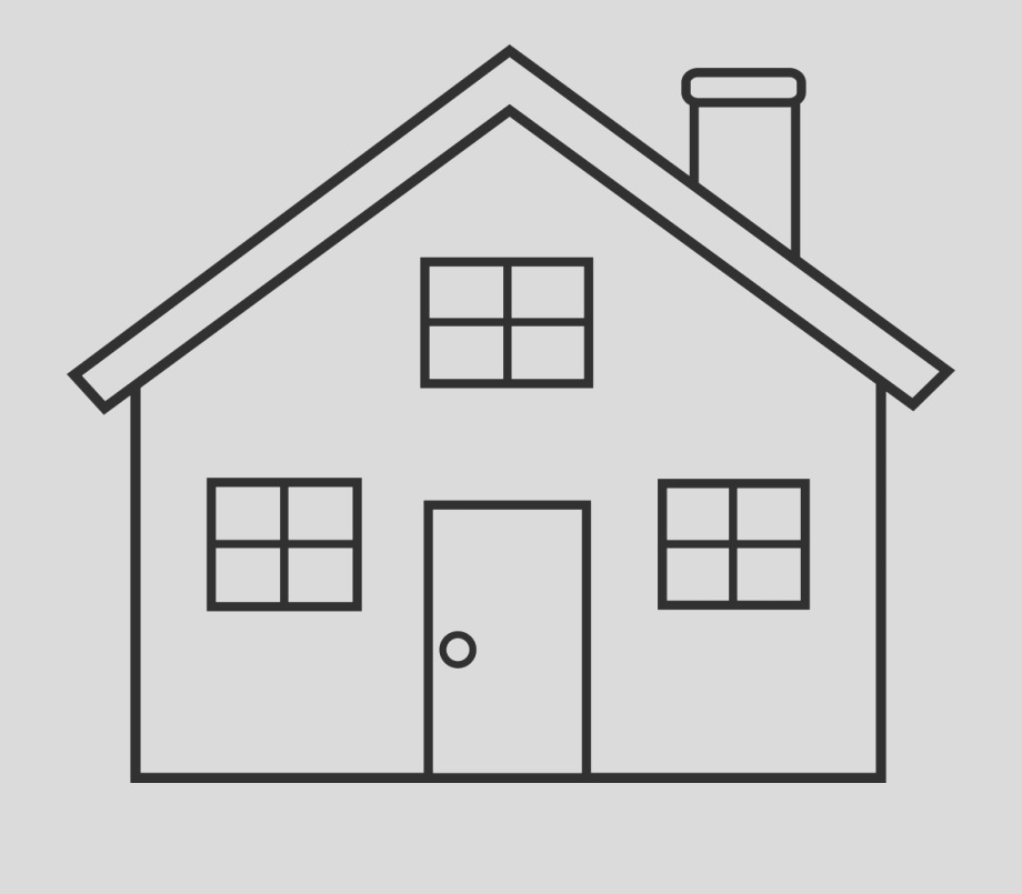 iTTmbxb house clipart for printable simple house coloring page