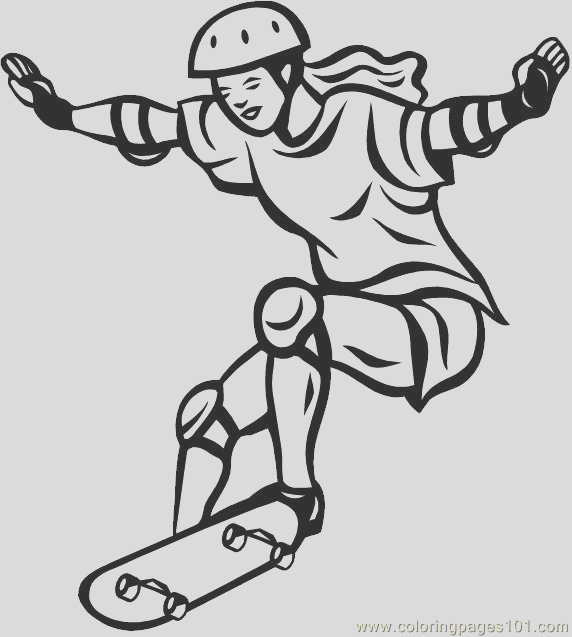 skateboarding coloring pages 7