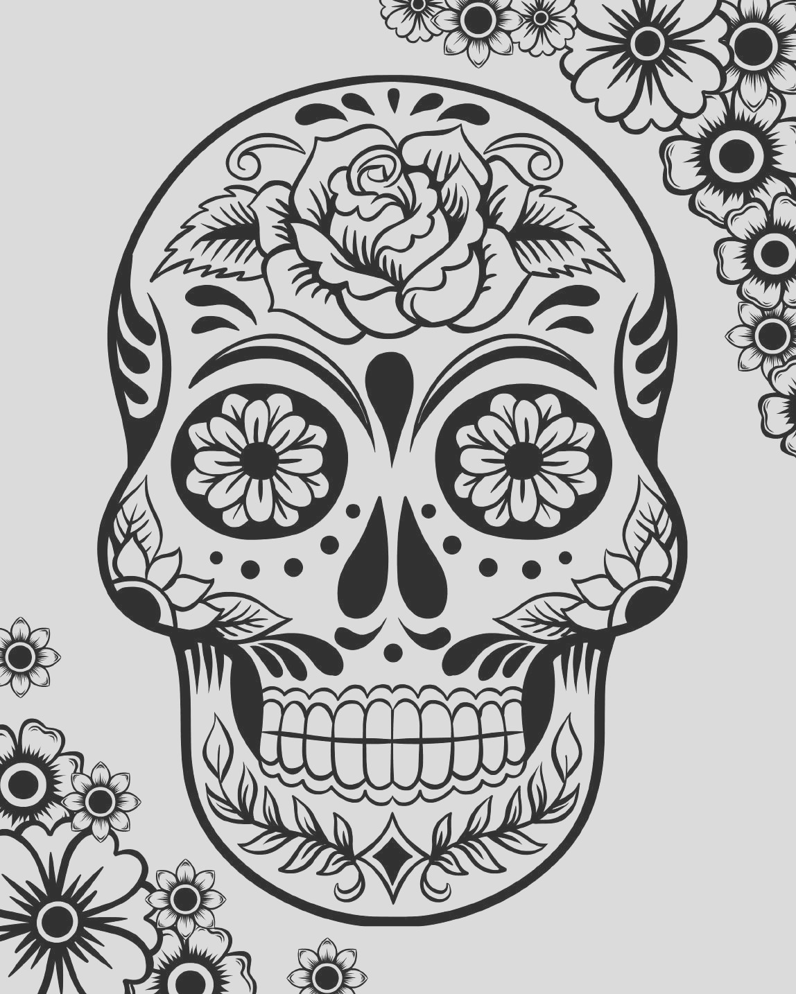free printable day dead coloring pages