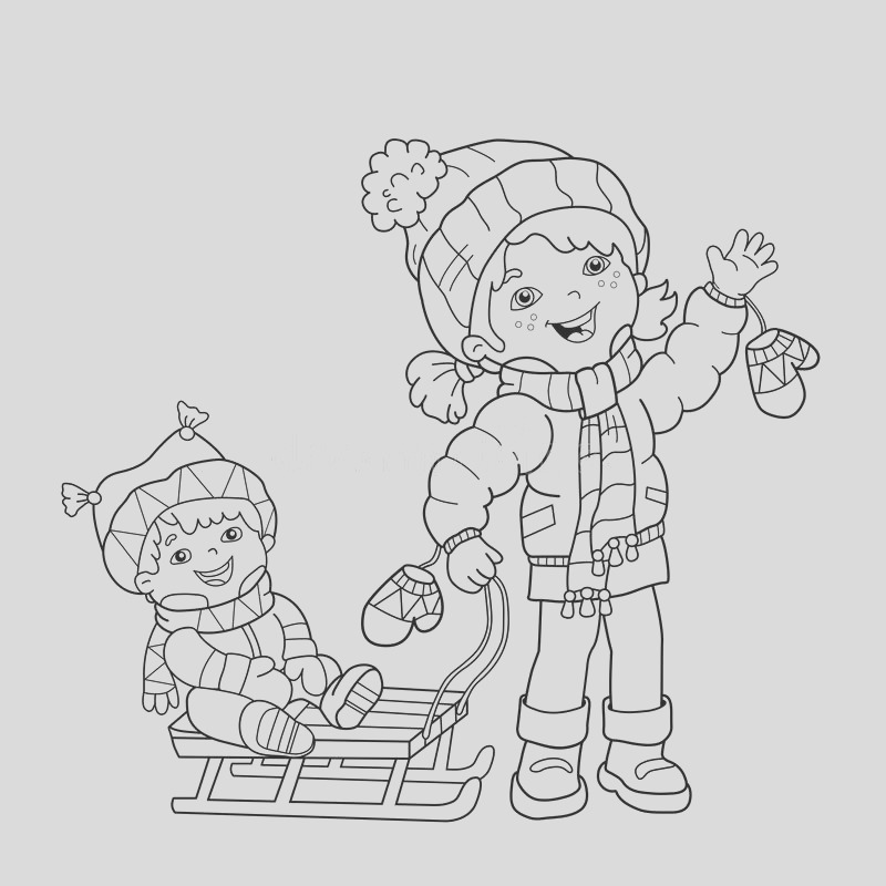 editorial stock image coloring page outline cartoon girl skating winter sports sudden drop book kids image
