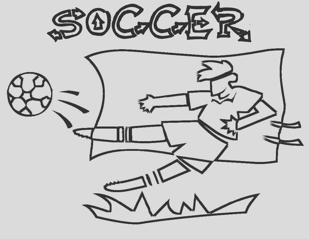soccer coloring pages