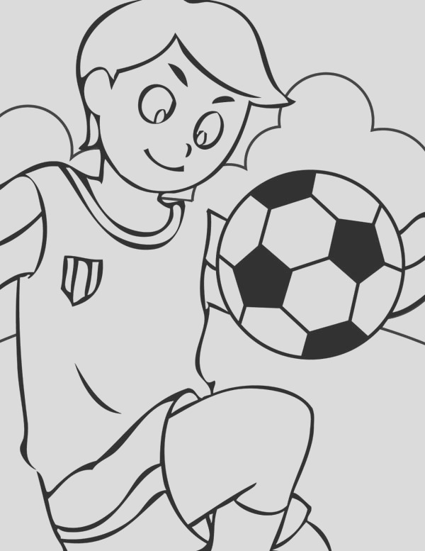 a nice ball handling by this boy coloring page