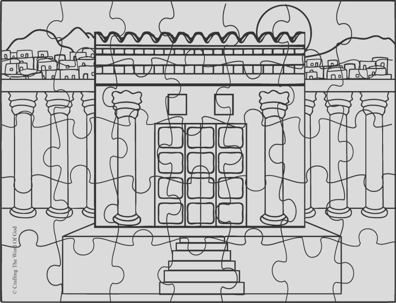 solomon builds the temple coloring page