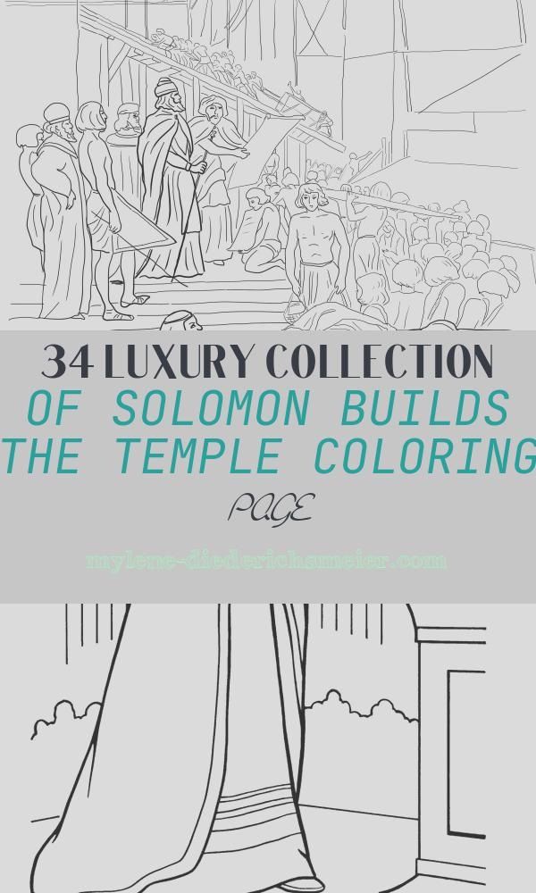 Solomon Builds the Temple Coloring Page Luxury King solomon Builds the Temple Coloring Page