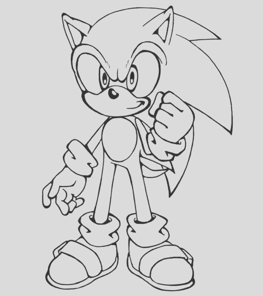 sonic the hedgehog coloring pages for your little ones