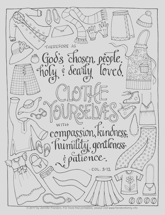 clothe yourself with humility coloring page
