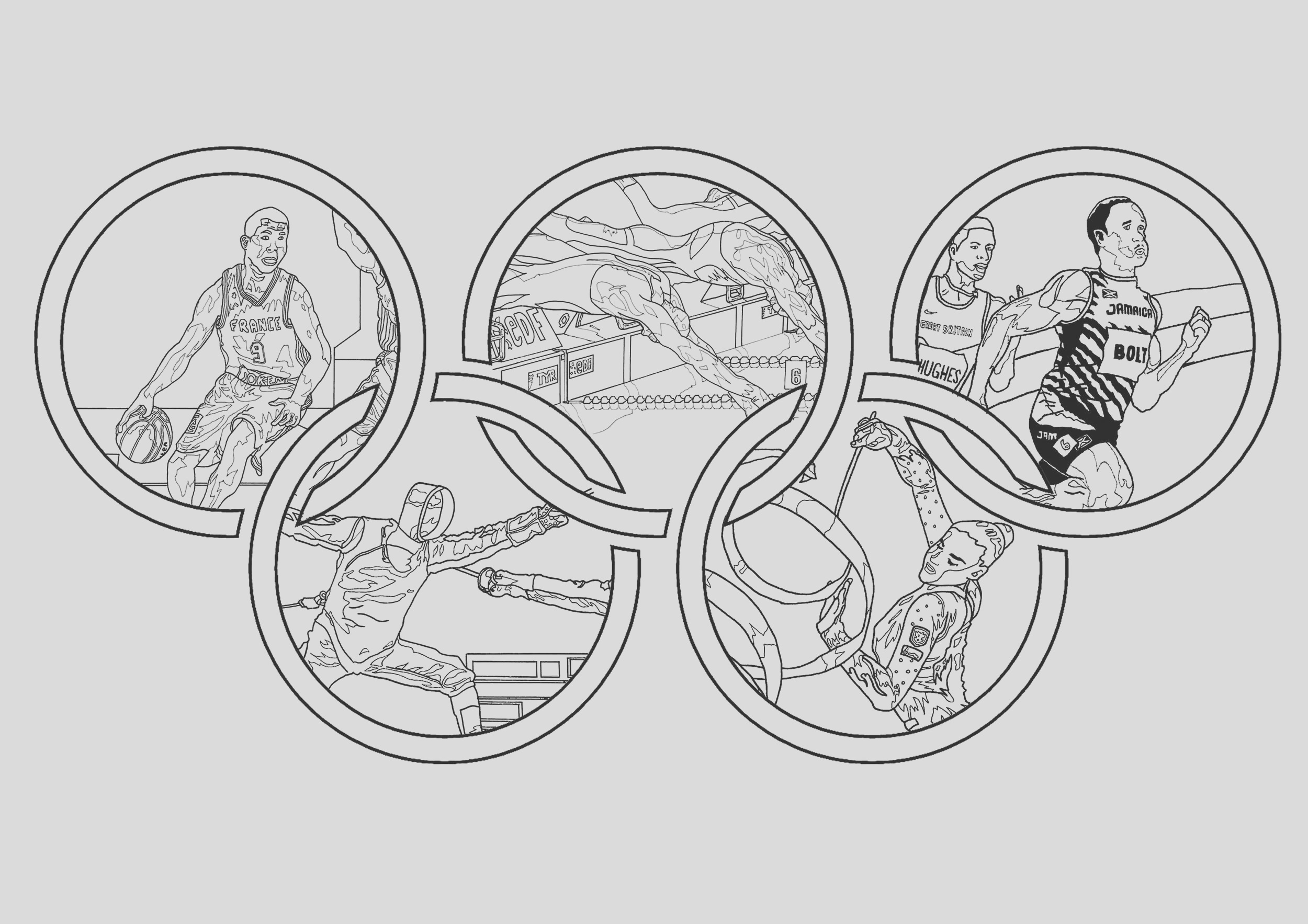 image=olympic games Coloring for kids olympic games 1