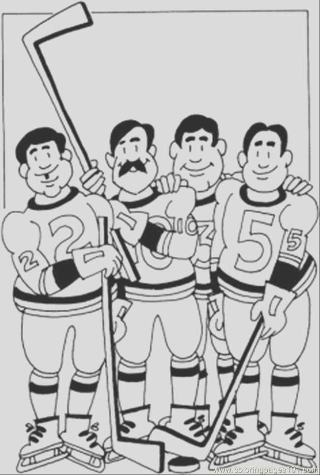542 hockey team coloring page coloring page