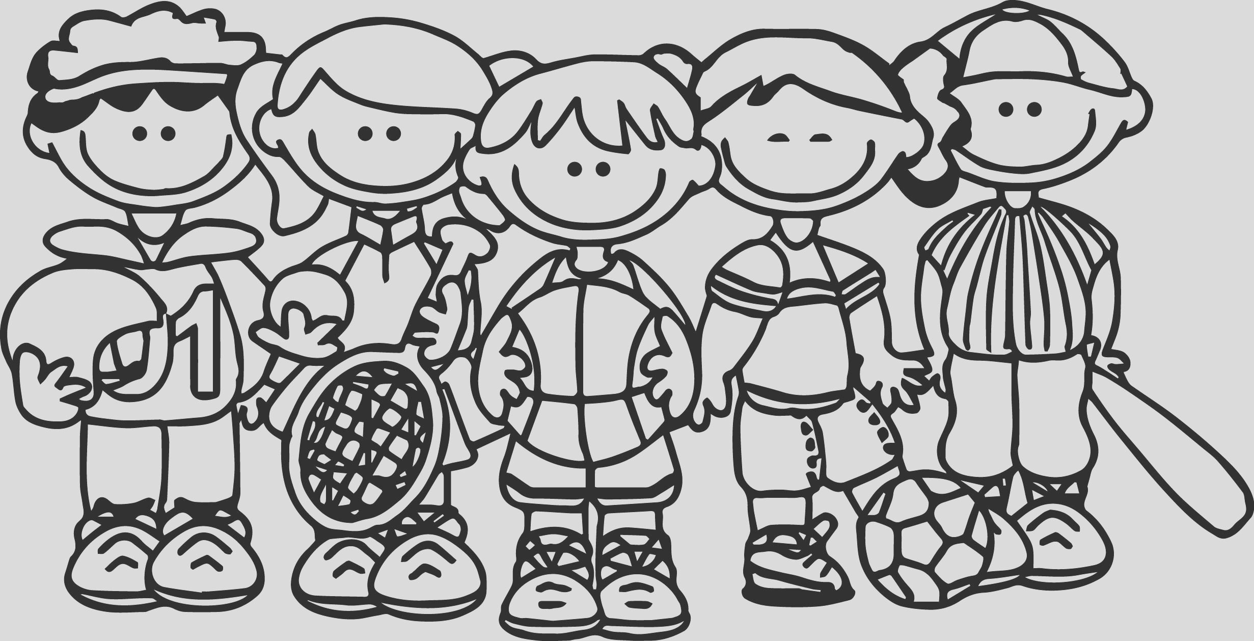 sport team kids coloring page