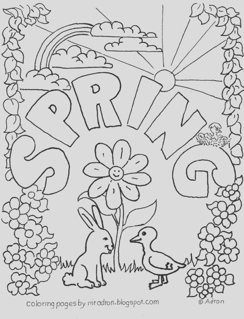 spring coloring pages high spring coloring pages for adults spring coloring pages free