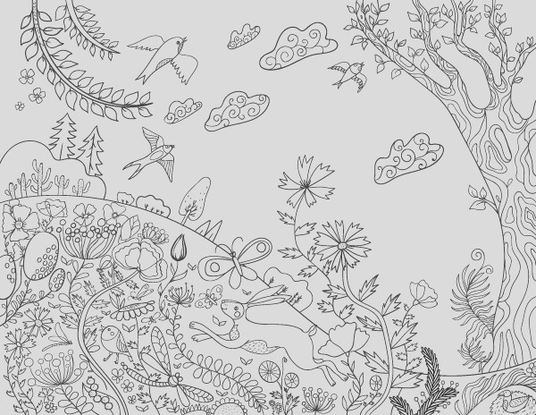 spring day coloring page