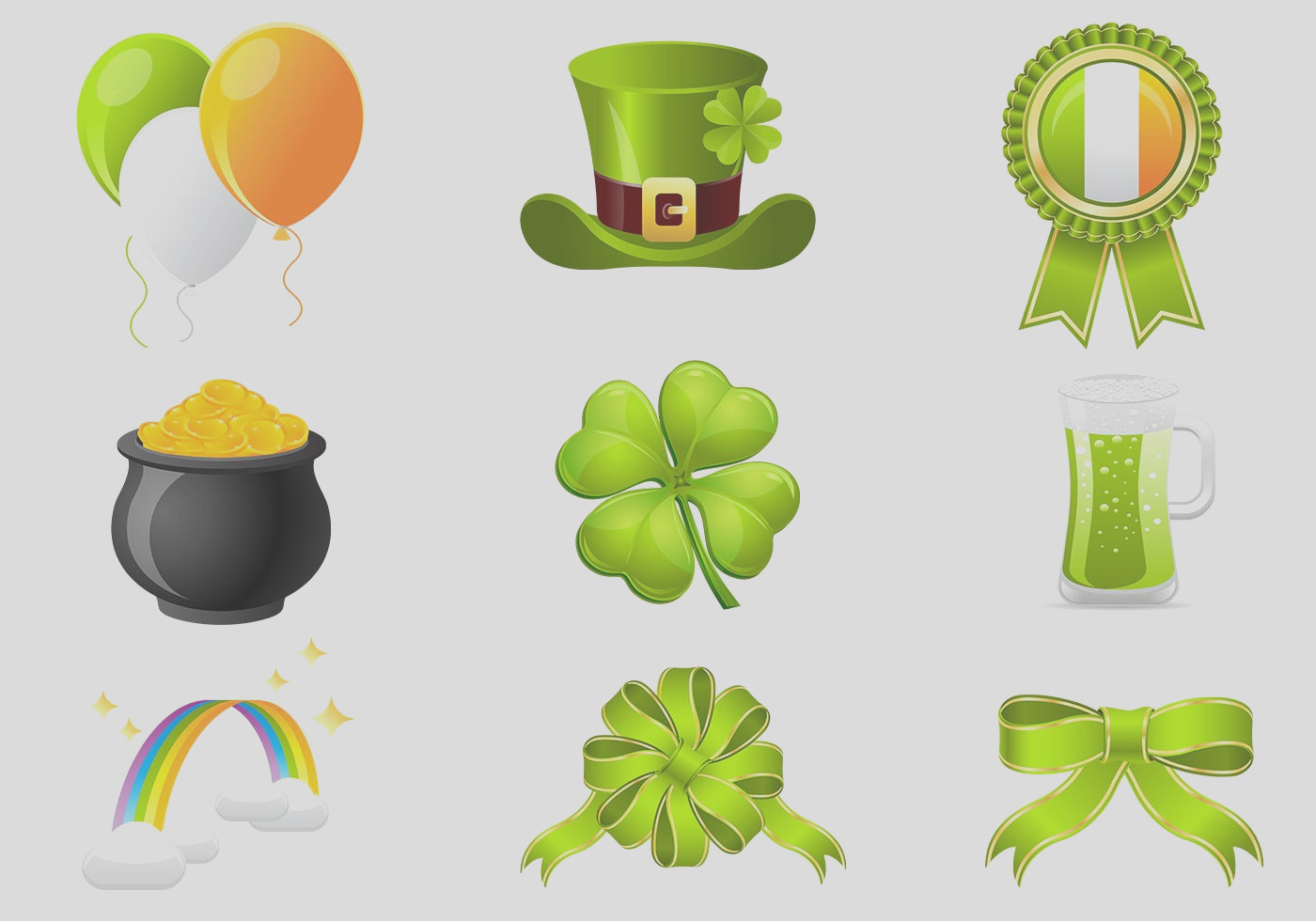st patrick s day icon psd pack