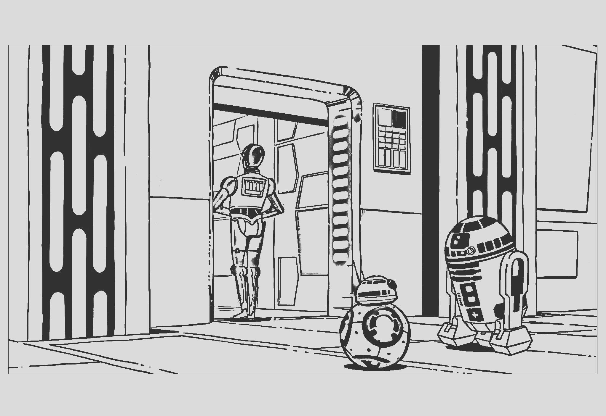 image=movie posters coloring robots star wars r2d2 c3po bb8 1