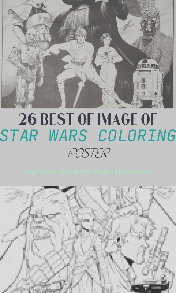 Star Wars Coloring Poster Best Of Star Wars Coloring Poster 1977 by Stefanikland On Etsy