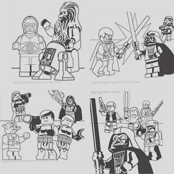 star wars lego party supplies color your own poster