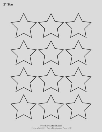 star template 2 inch