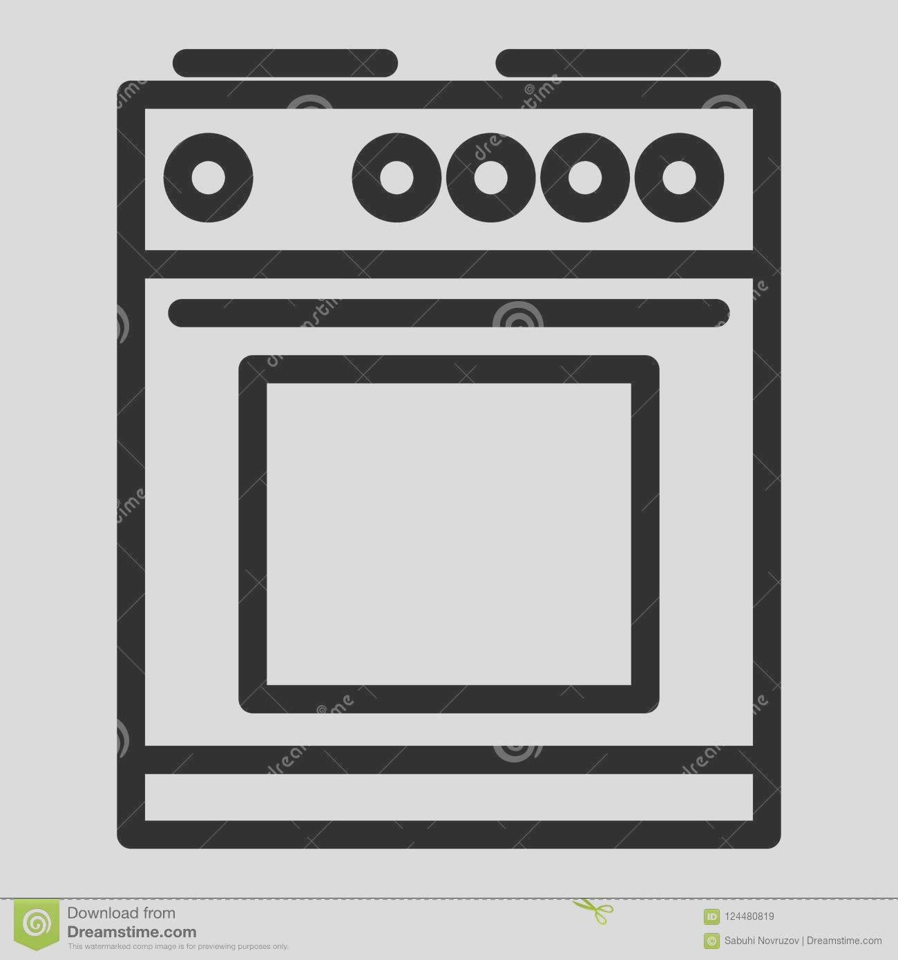 electric stove line icon oven vector illustration isolated white cooker outline style design designed web electric image