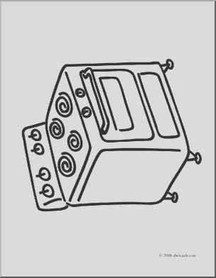 clip art basic words stove coloring page i abcteach