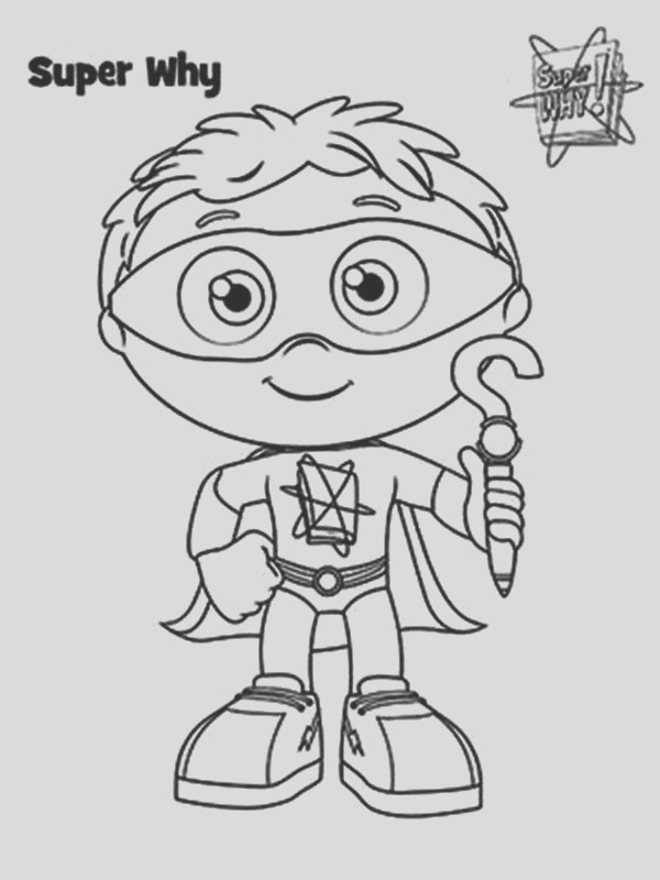how to draw whyatt from superwhy coloring page