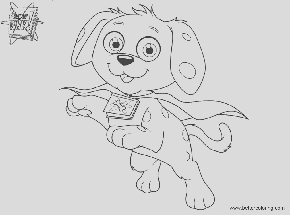 super why coloring pages woofster black and white