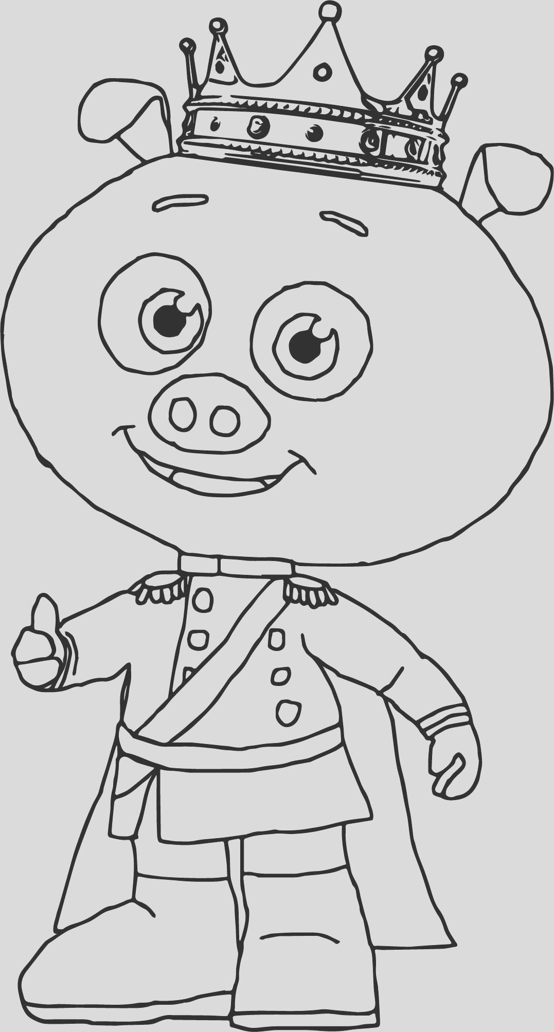 prince pig super coloring page