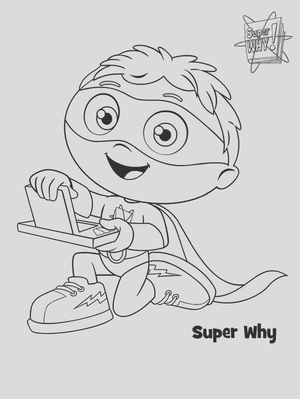 whyatt beanstalk and why writer in superwhy coloring page