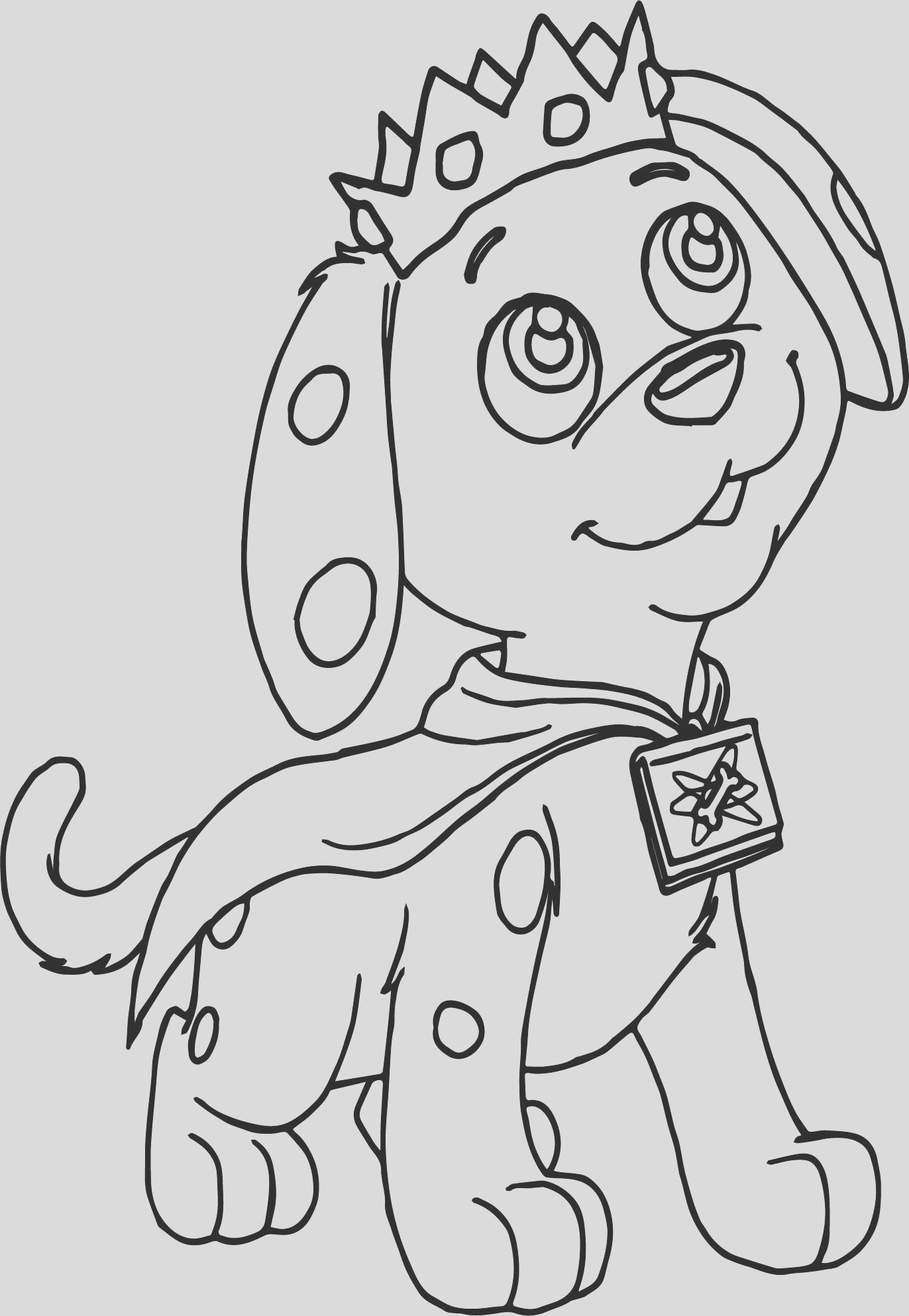 prince puppy super coloring page
