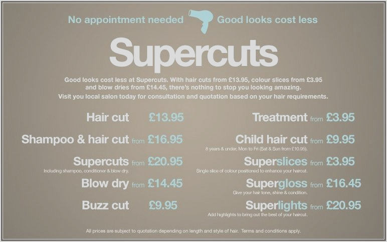 supercuts hair coloring prices