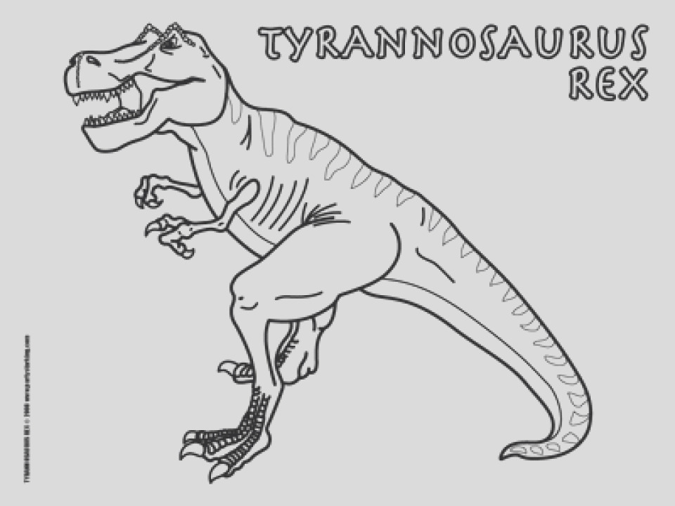 t rex coloring pages free printable