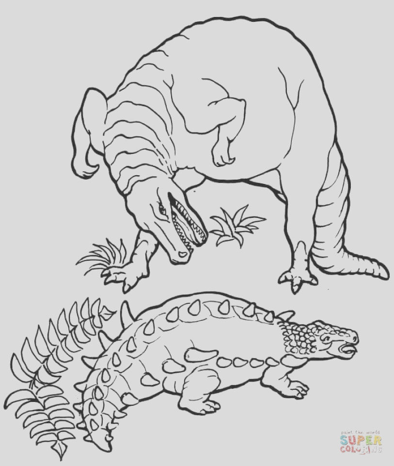 printable t rex coloring pages online