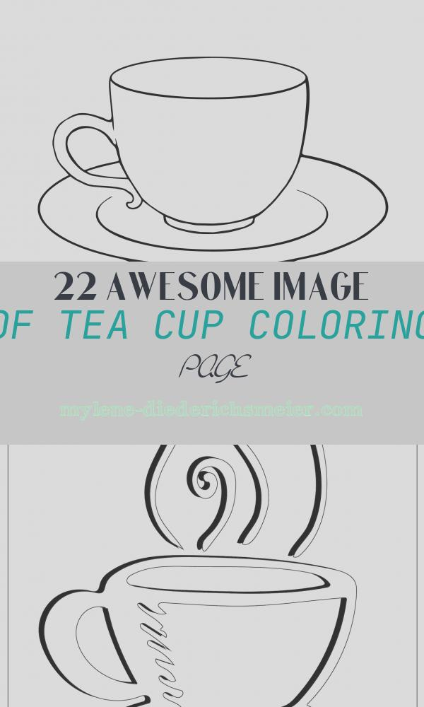 Tea Cup Coloring Page Elegant Tea Cup and Saucer Drawing Sketch Coloring Page