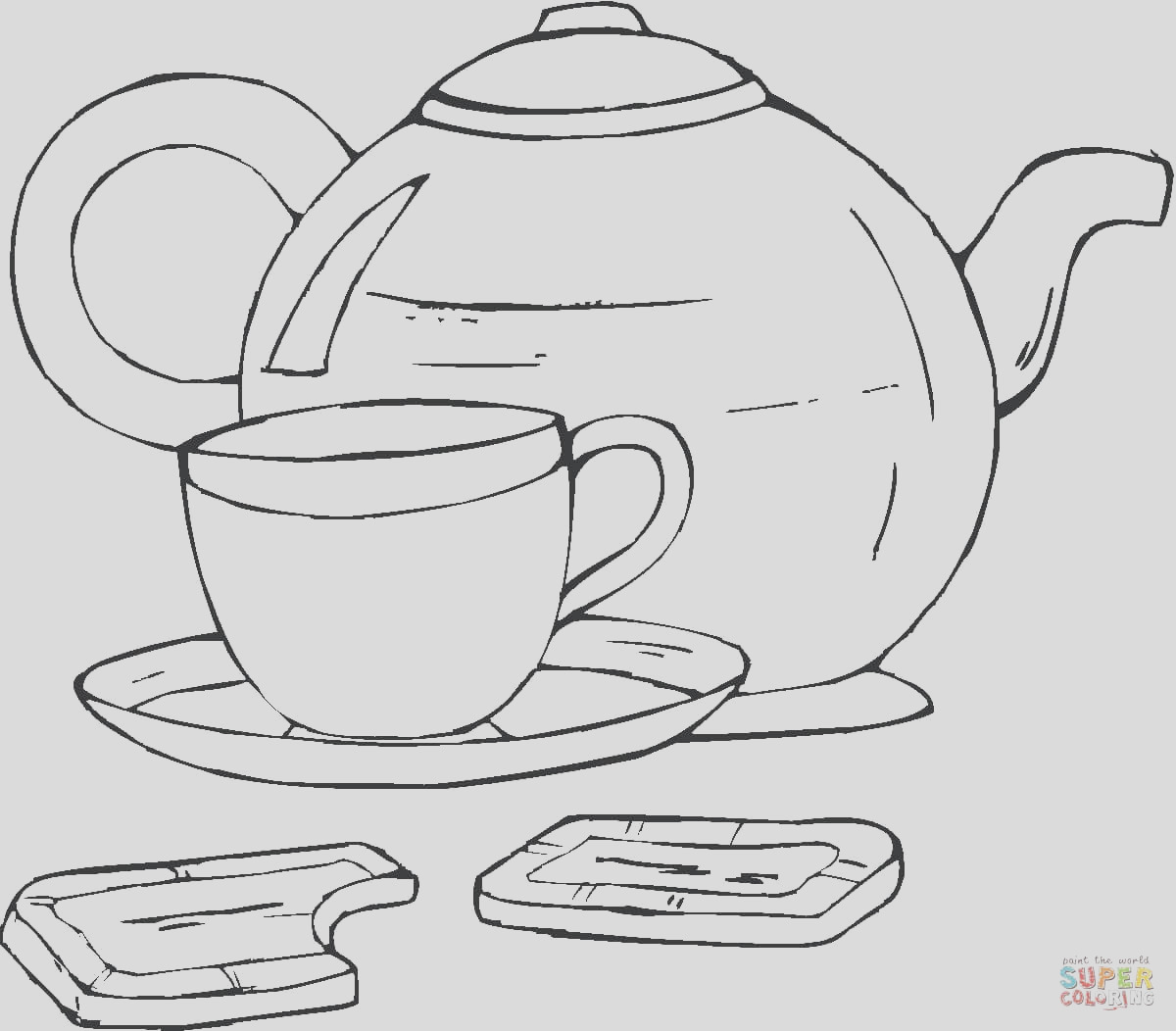printable teapot coloring pages