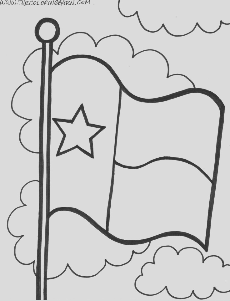 texas flag coloring page