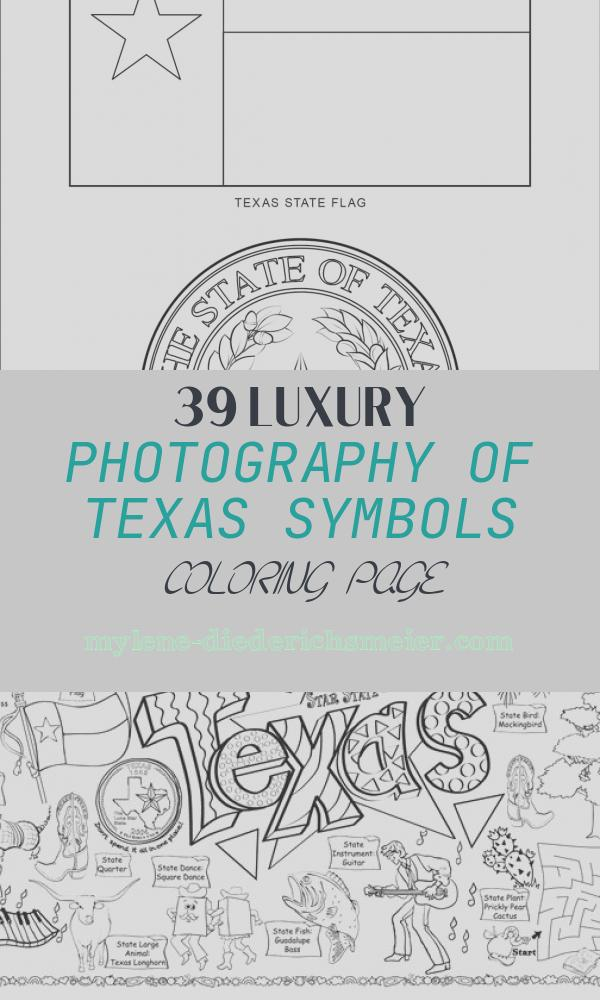 Texas Symbols Coloring Page Fresh Texas State Symbols Coloring Page