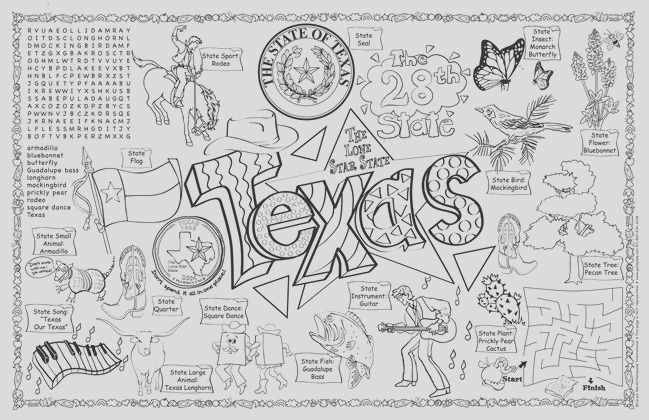 post worksheet about texas
