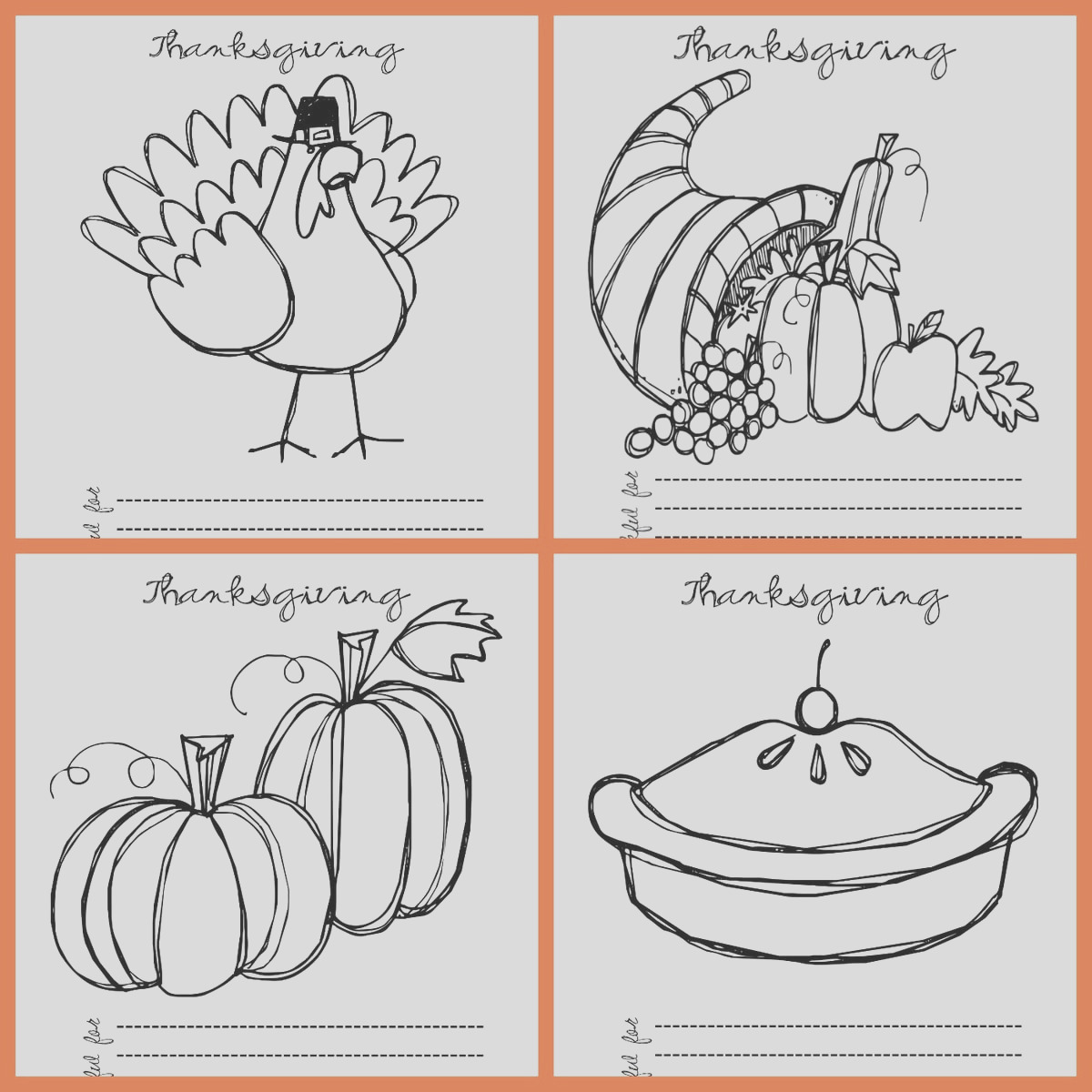 free thanksgiving coloring pages 2015