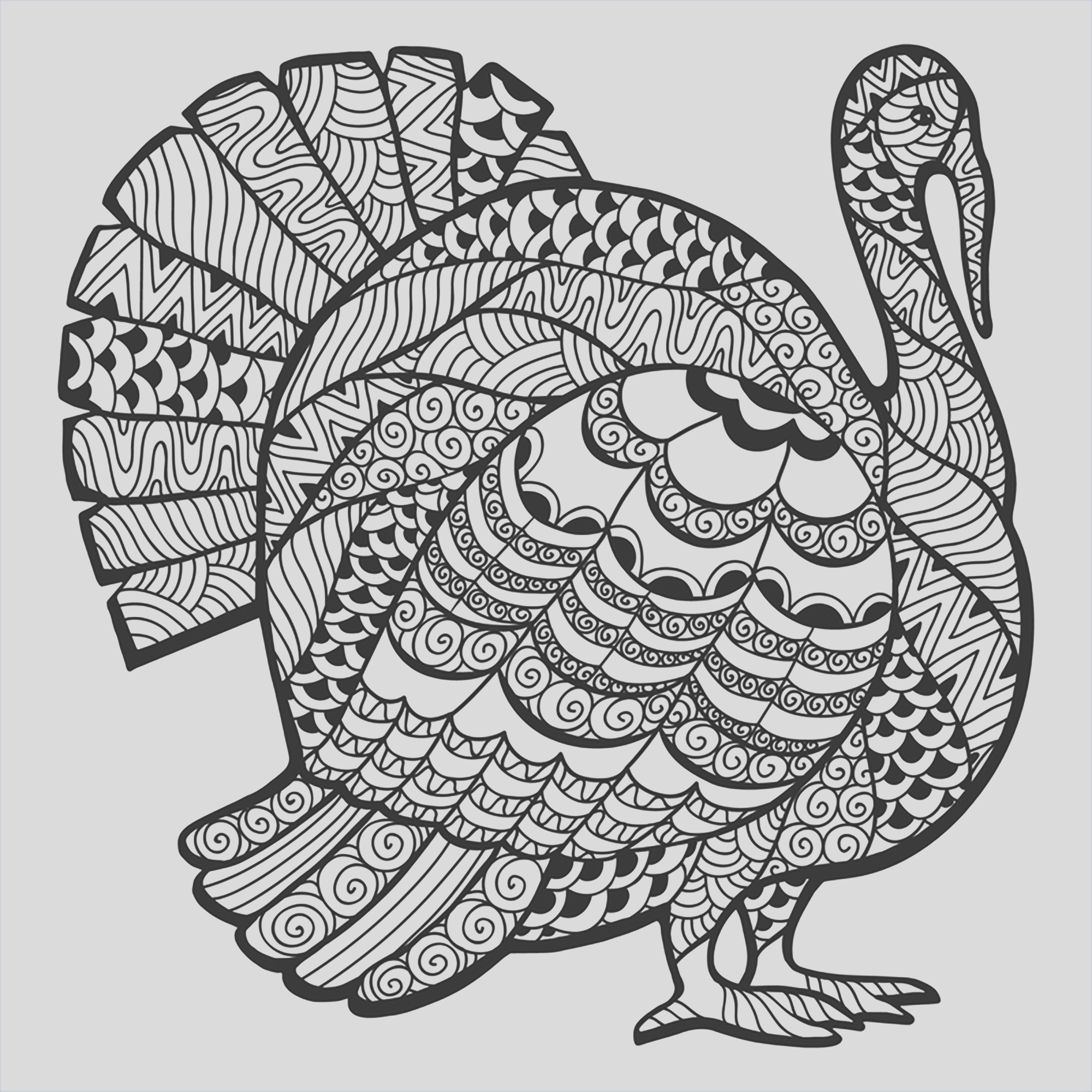 image=events thanksgiving coloring page thanksgiving zentangle turkey by Elena Medvedeva 1