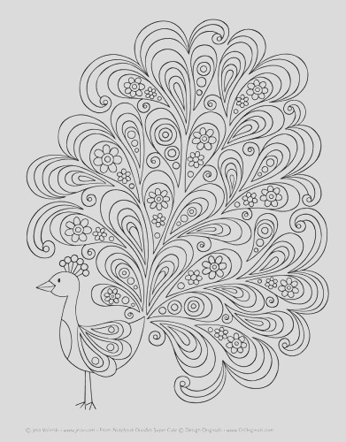 notebook doodles super cute coloring beginner friendly relaxing creative art activities high quality extra thick perforated paper pa