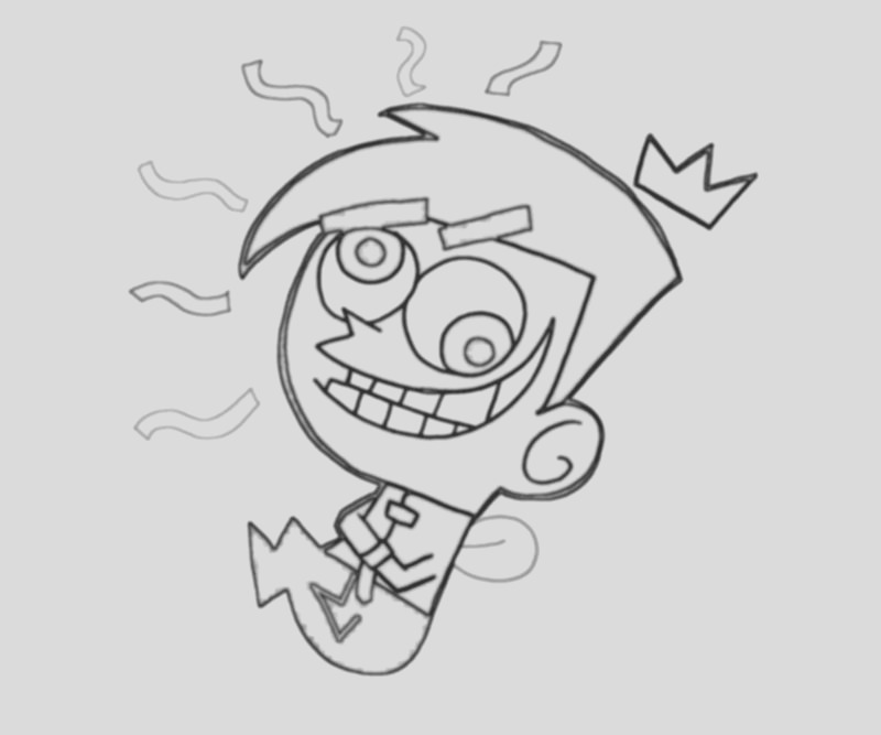 The Fairly OddParents coloring timmy turner