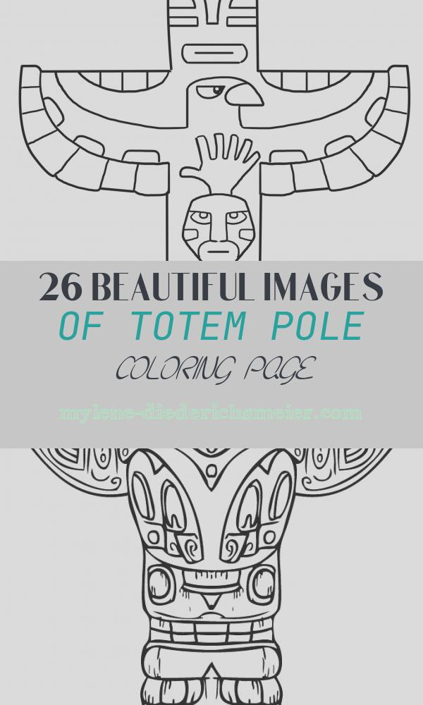 Totem Pole Coloring Page Awesome Free Printable totem Pole Coloring Pages for Kids