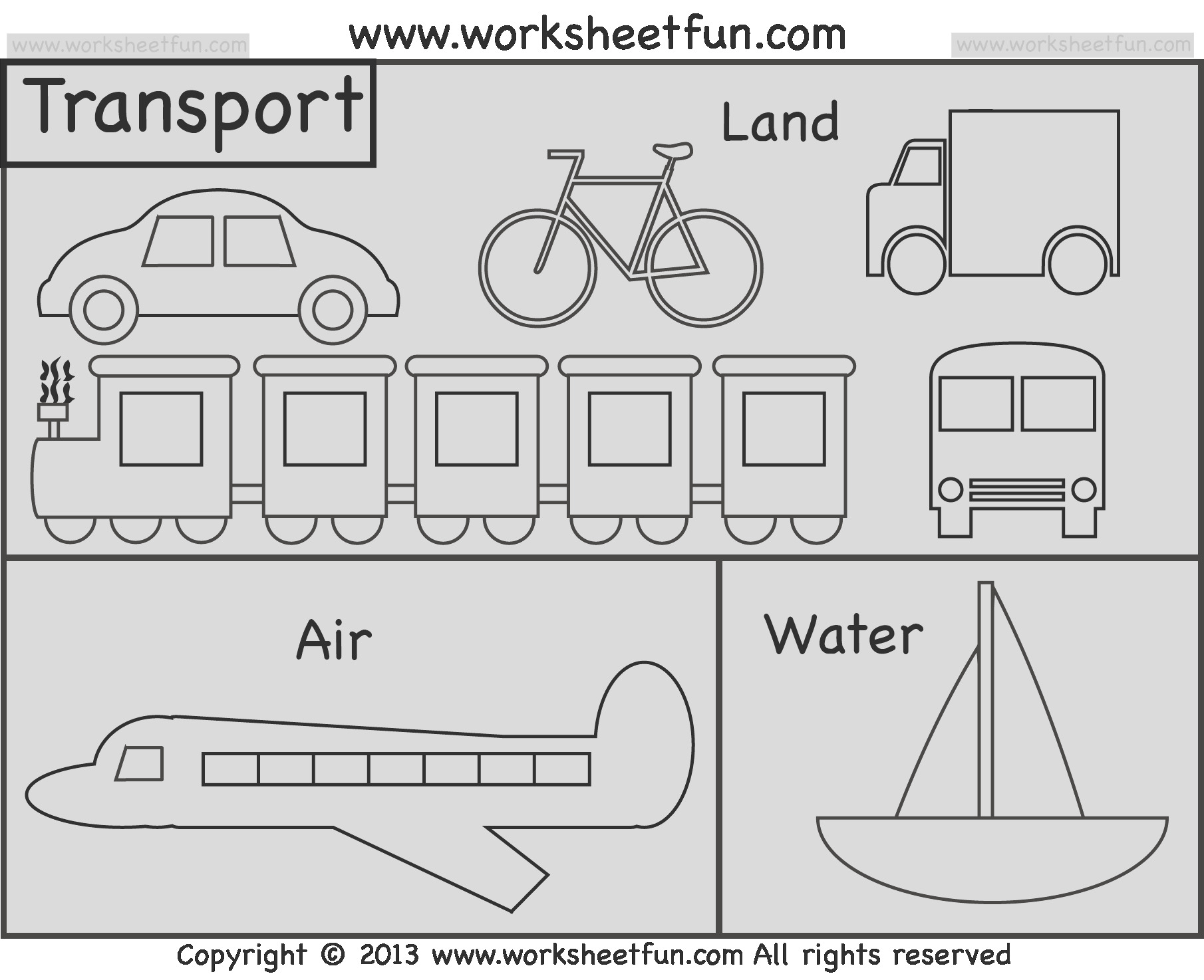 means transportation tracing worksheet