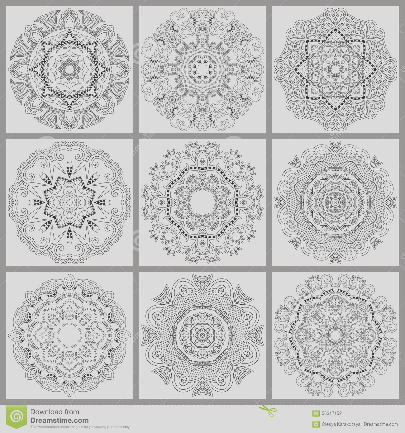 stock illustration unique coloring book square page adults floral authentic circle design joy to older children adult colorists who like line image